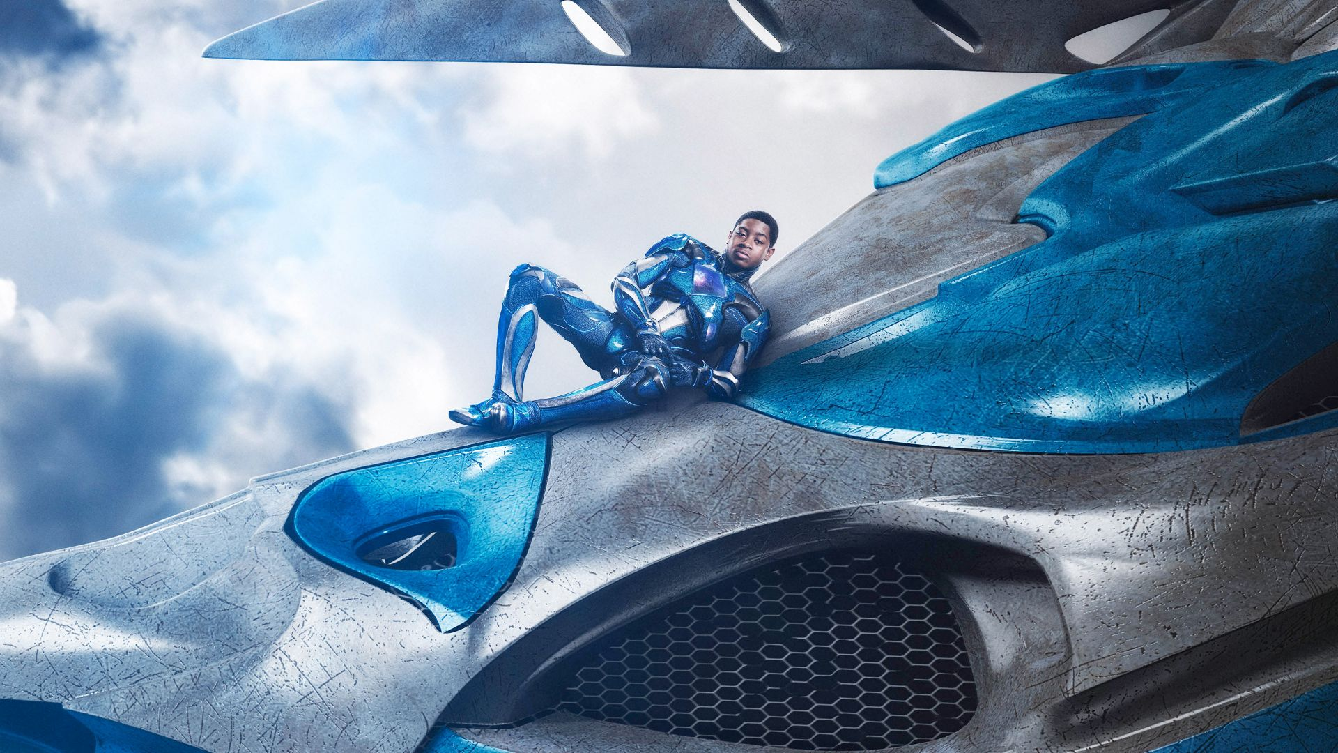 Power Rangers, blue, RJ Cyler, superhero (horizontal)