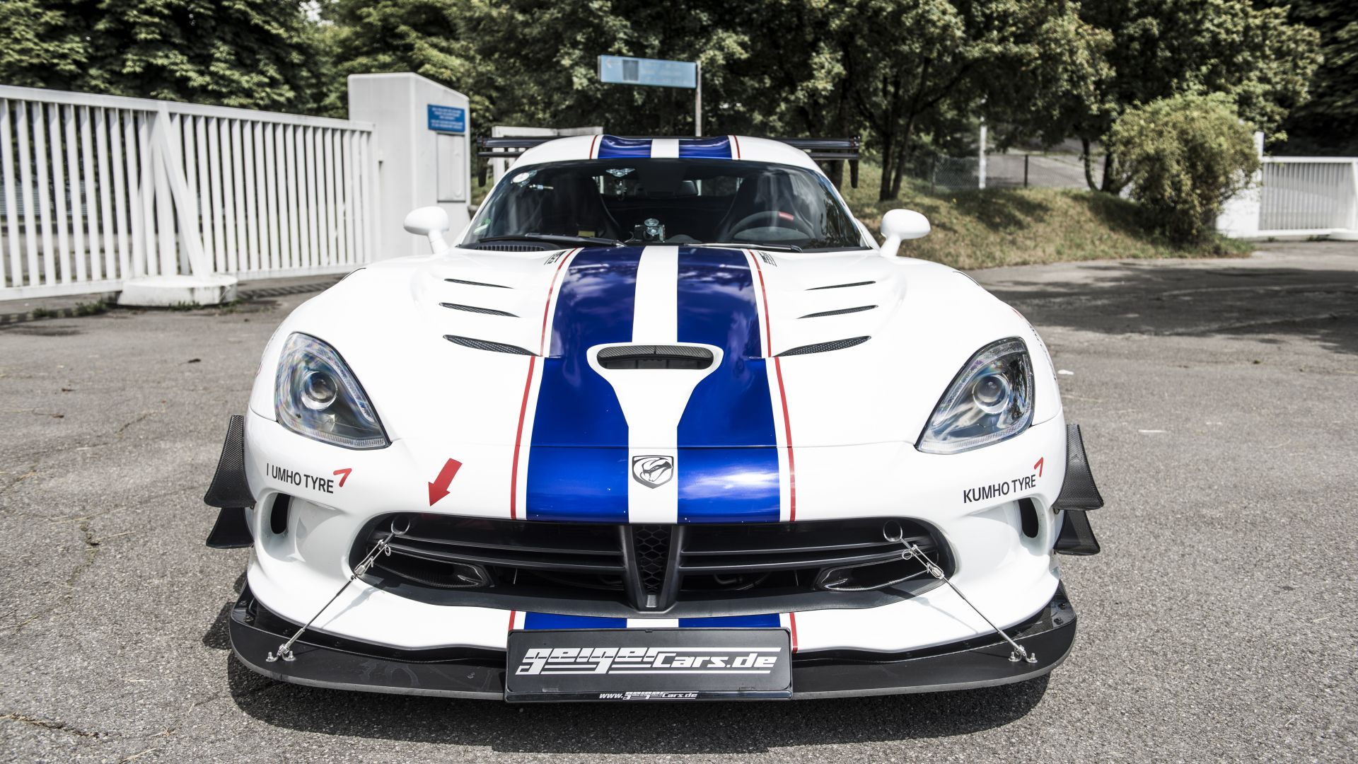 Dodge Viper ACR, Geiger Cars, white, speed (horizontal)