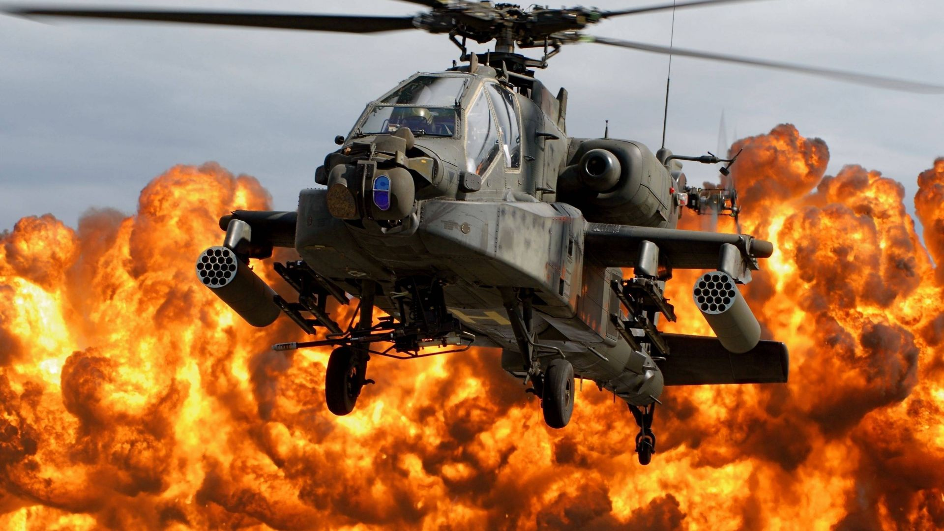 Apache AH-64, attack helicopter, US Army, U.S. Air Force (horizontal)