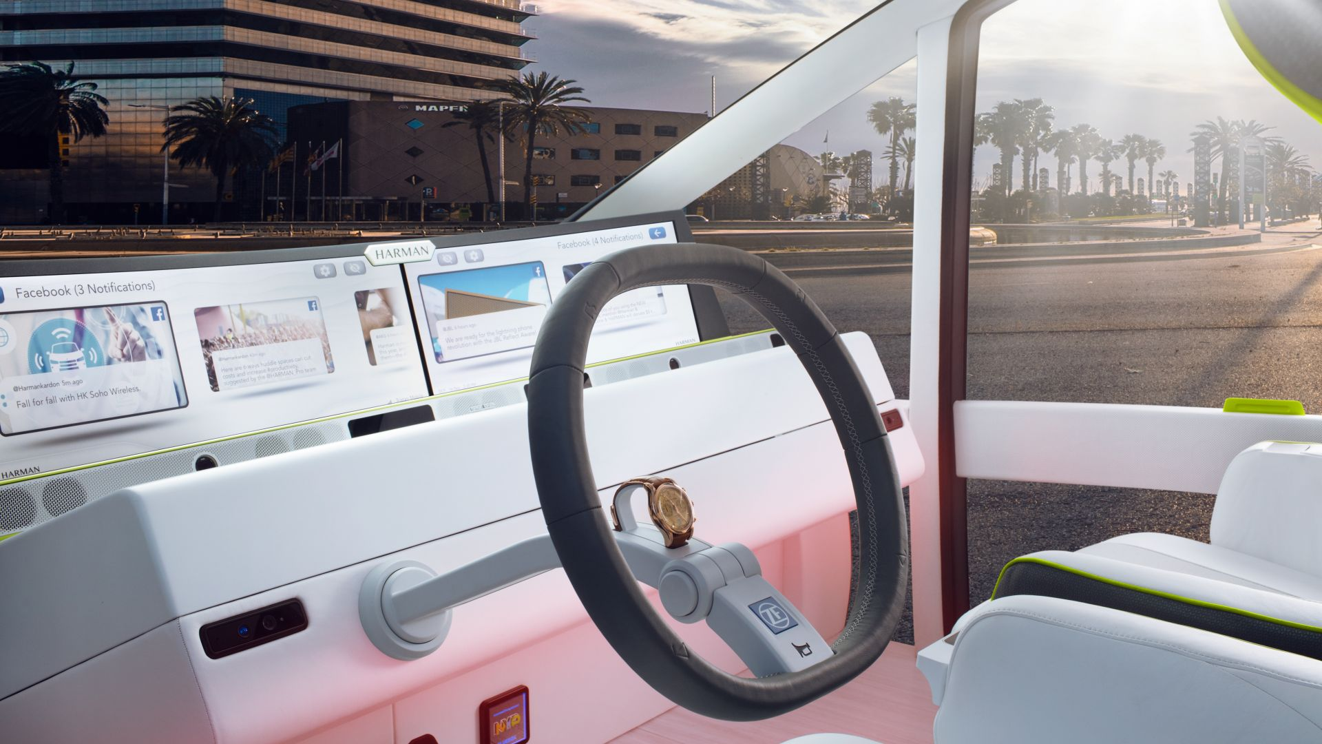 Rinspeed Oasis, CES 2017, self-driving (horizontal)