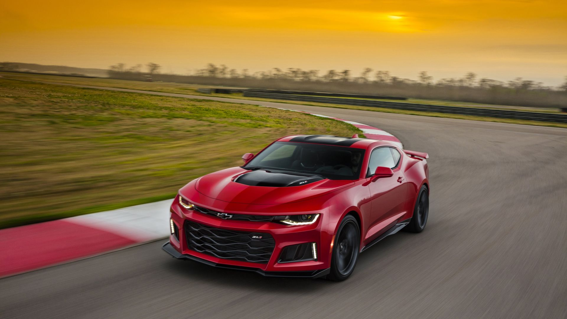 Chevrolet Camaro ZL1, coupe, red (horizontal)