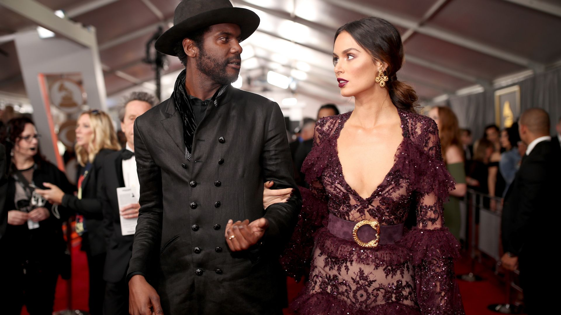 Gary Clark Jr, Nicole Trunfio, Grammy 2017 (horizontal)