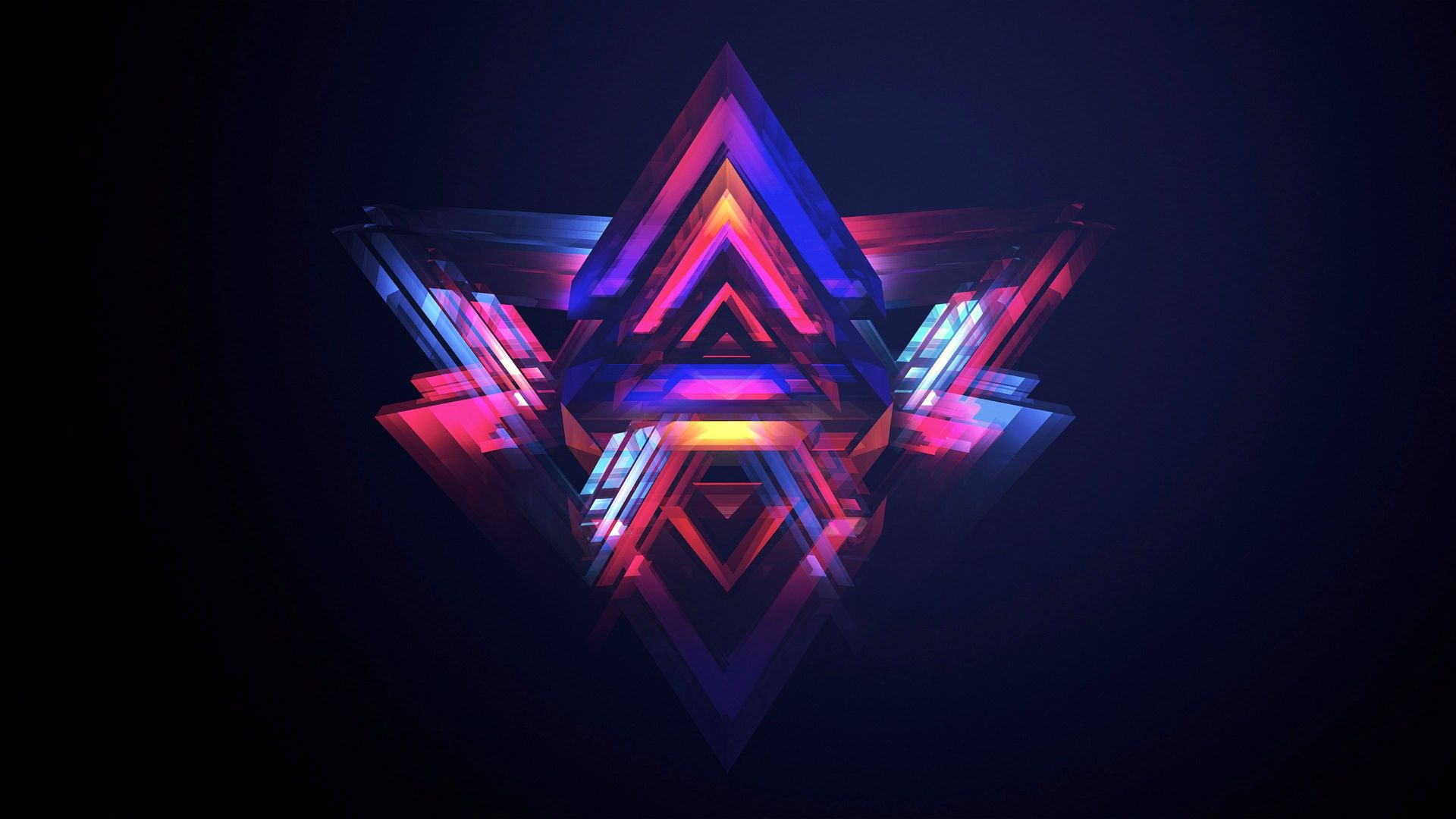HD, abstract, polygon (horizontal)