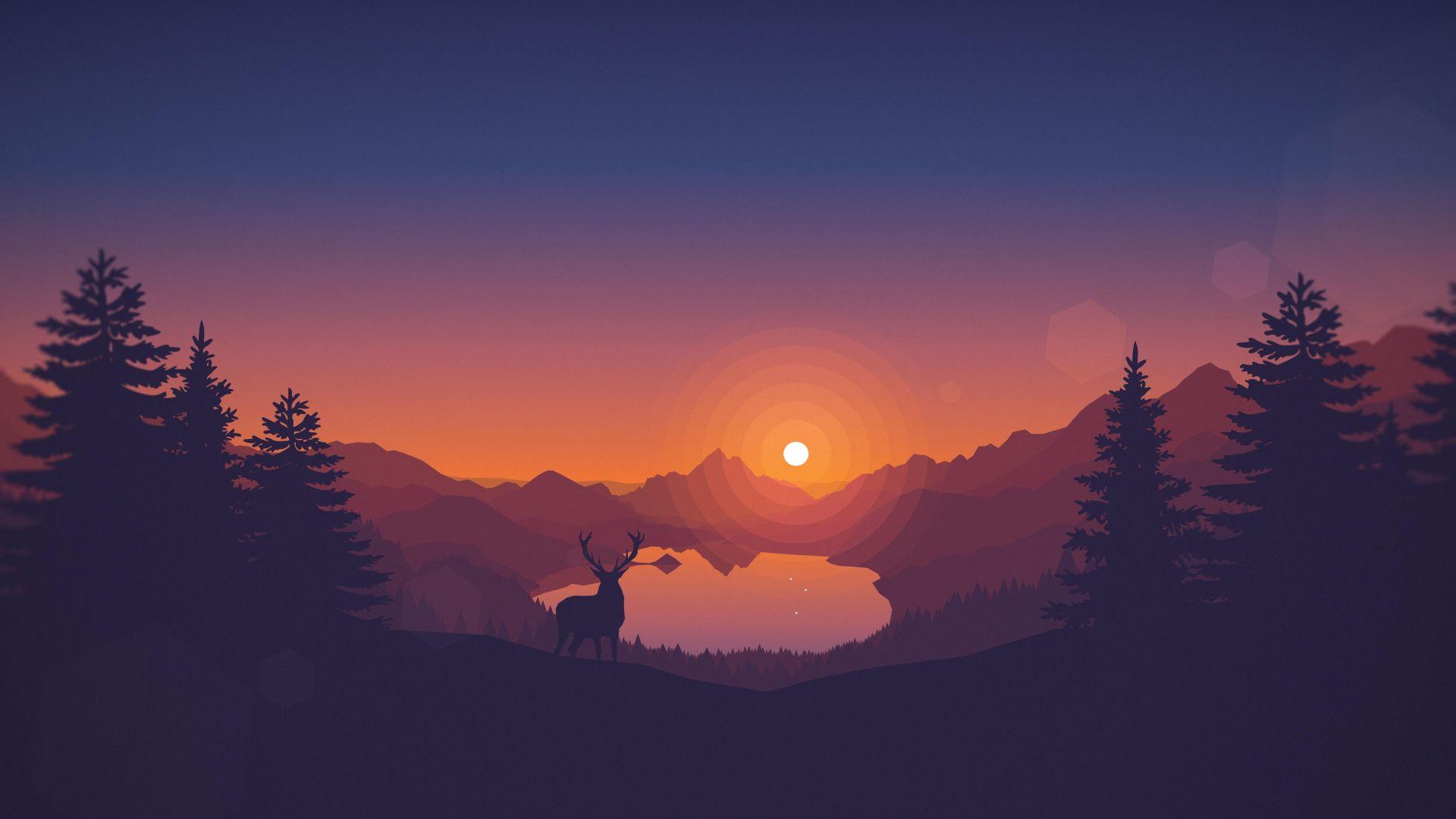 Wallpaper Firewatch 4k 8k Art Forest Games 13610