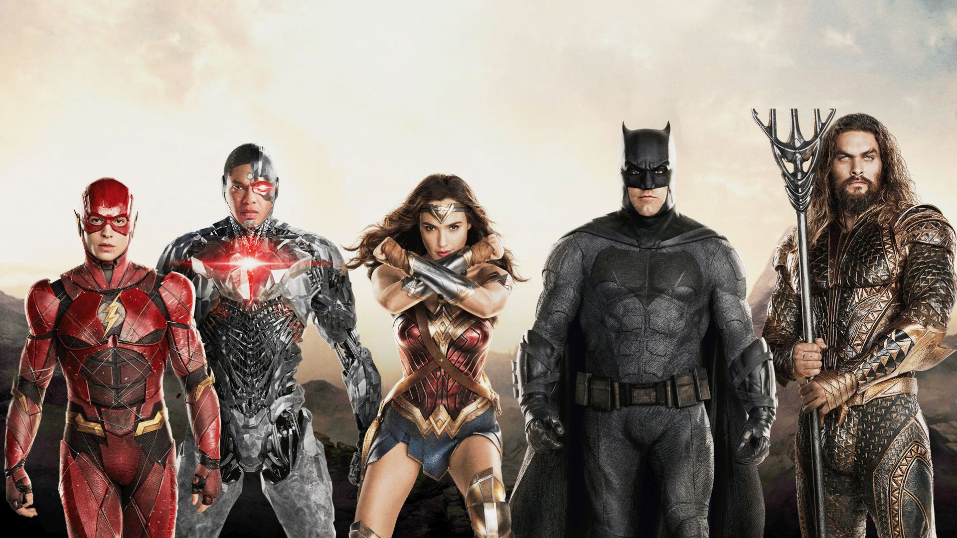Justice League, Batman, Wonder Woman, Aquaman, 4k (horizontal)