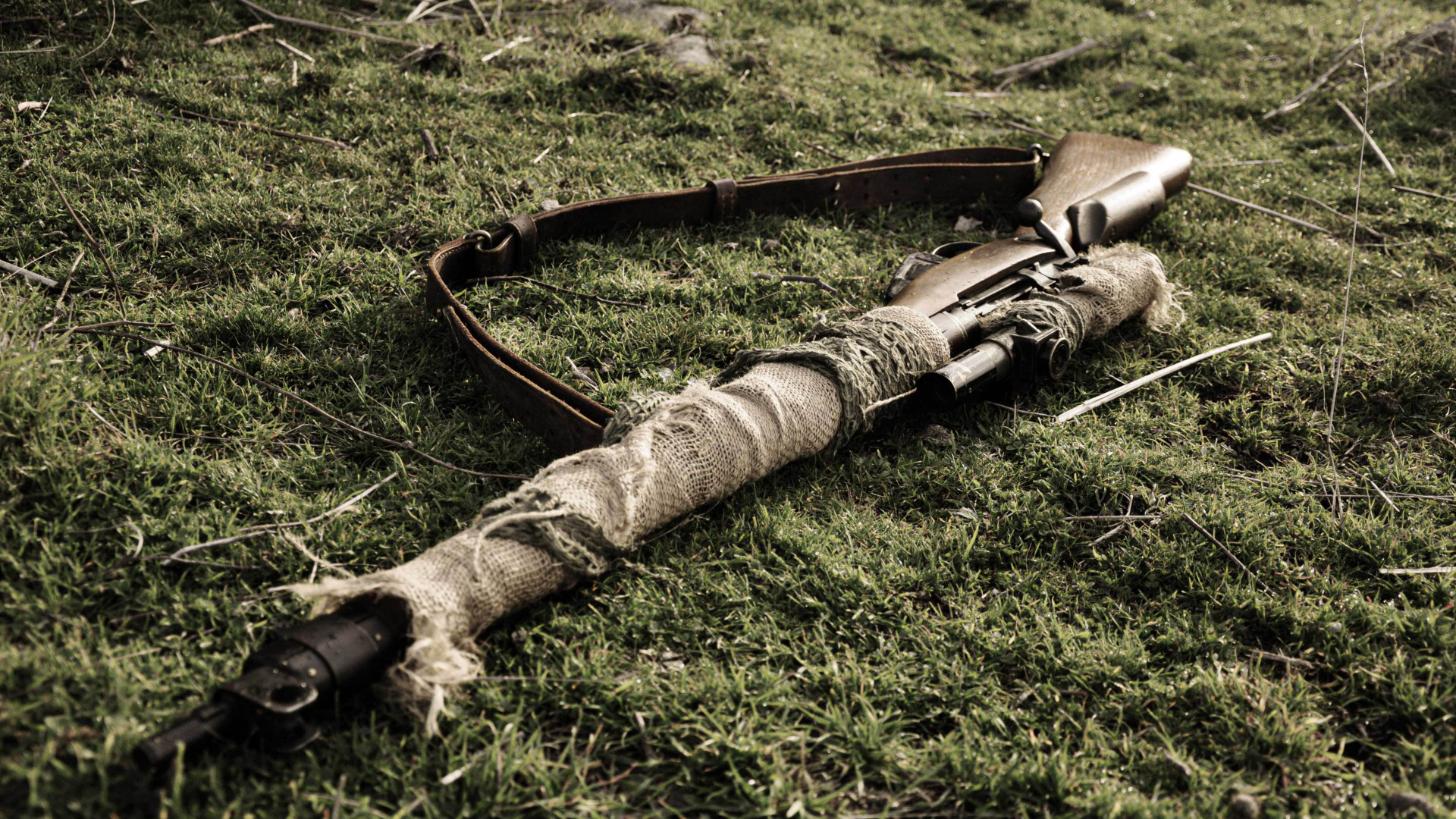 Lee-Enfield, Lee Enfield, sniper rifle, British Army, camo (horizontal)