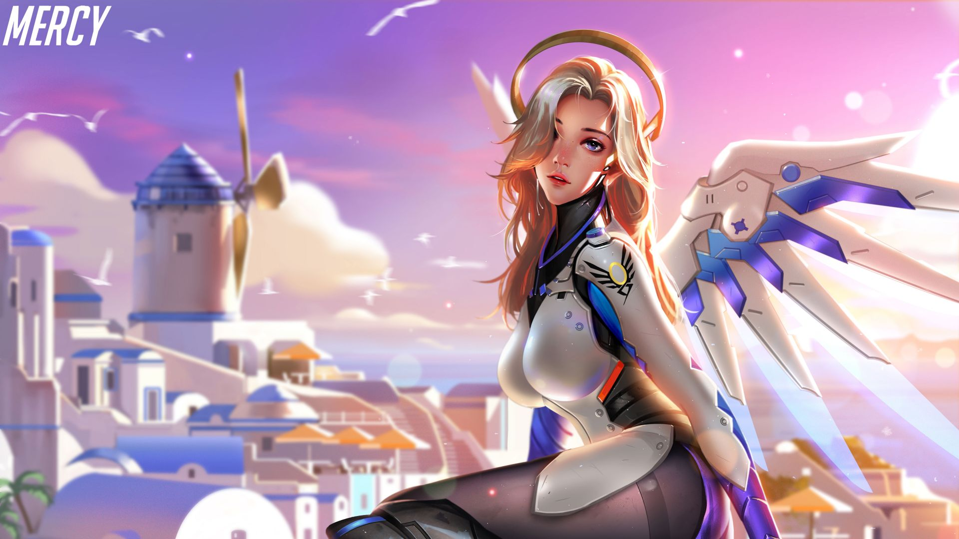 Overwatch, Mercy, 8k (horizontal)
