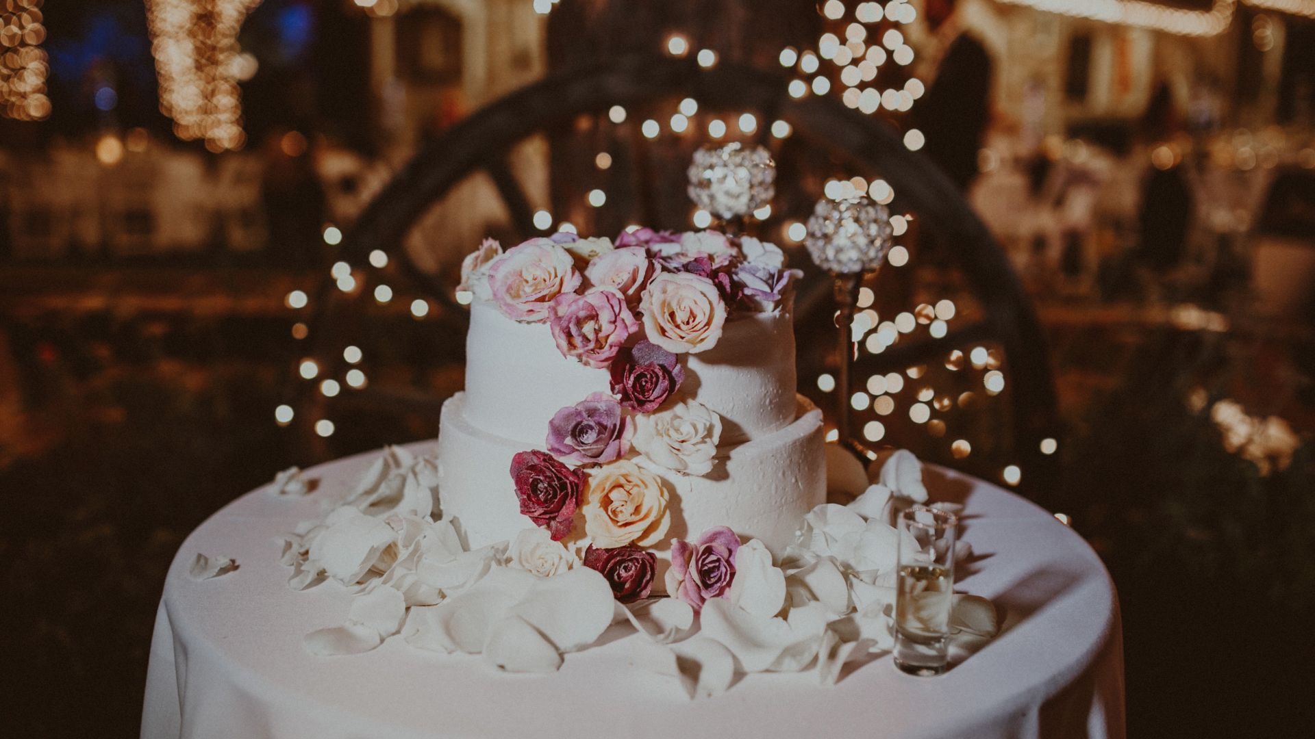 Wallpaper Wedding Cake Flowers 4k Food 14964