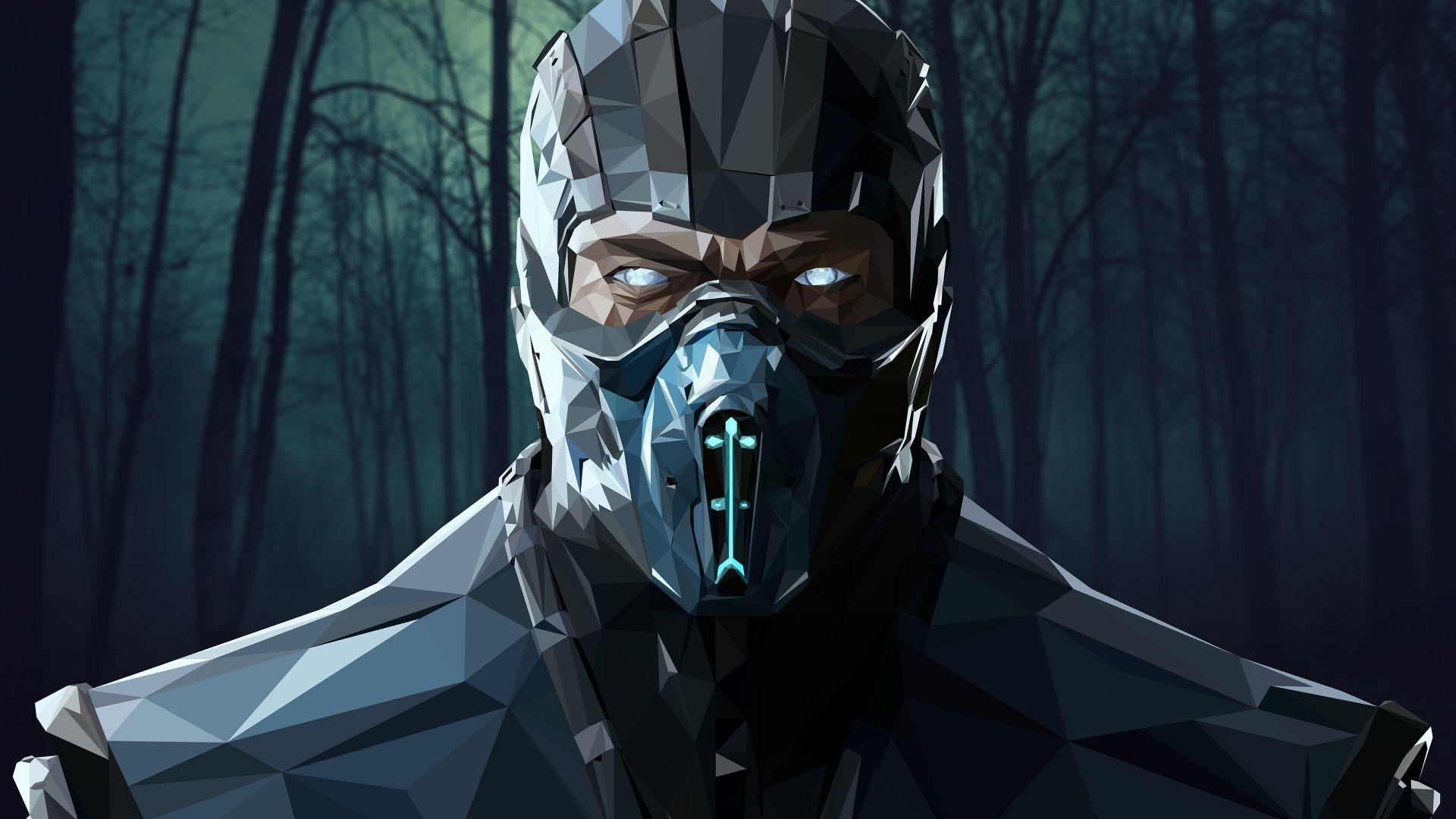 Mortal Kombat X Sub Zero Poster 4k Horizontal