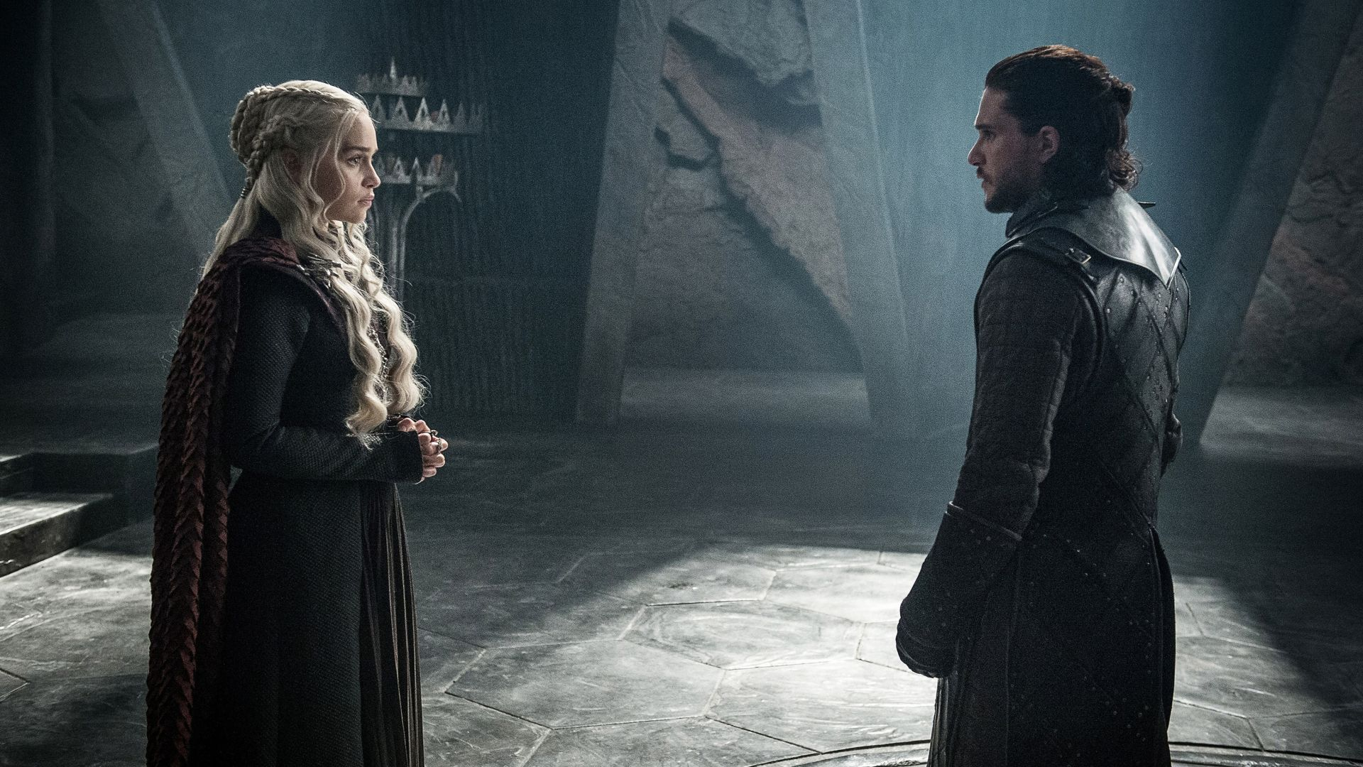 Game of Thrones Season 7, Jon Snow, Daenerys Targaryen, Kit Harington, Emilia Clarke, TV Series, 4k (horizontal)