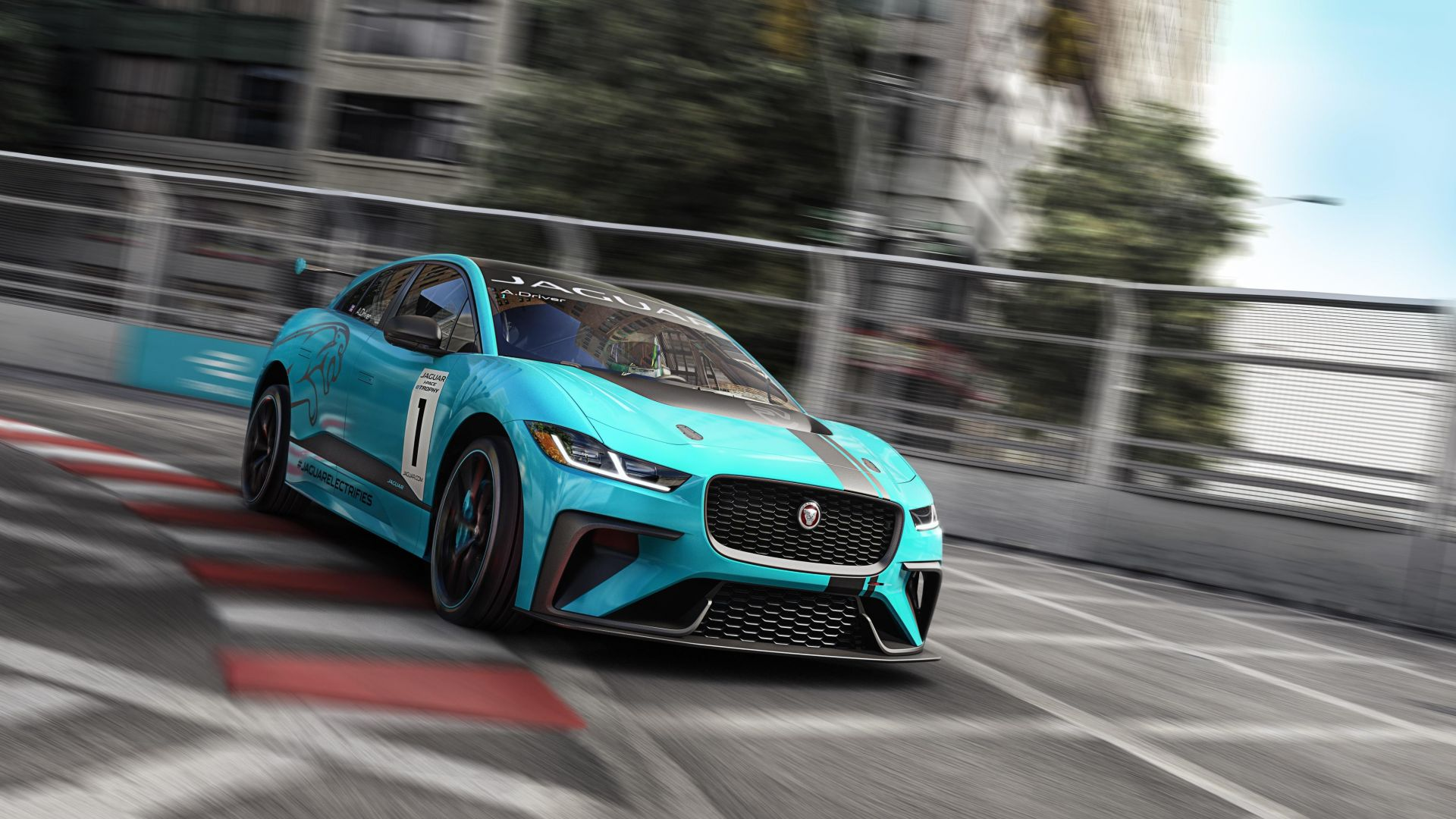 Jaguar I-Pace, electric car, 4k (horizontal)