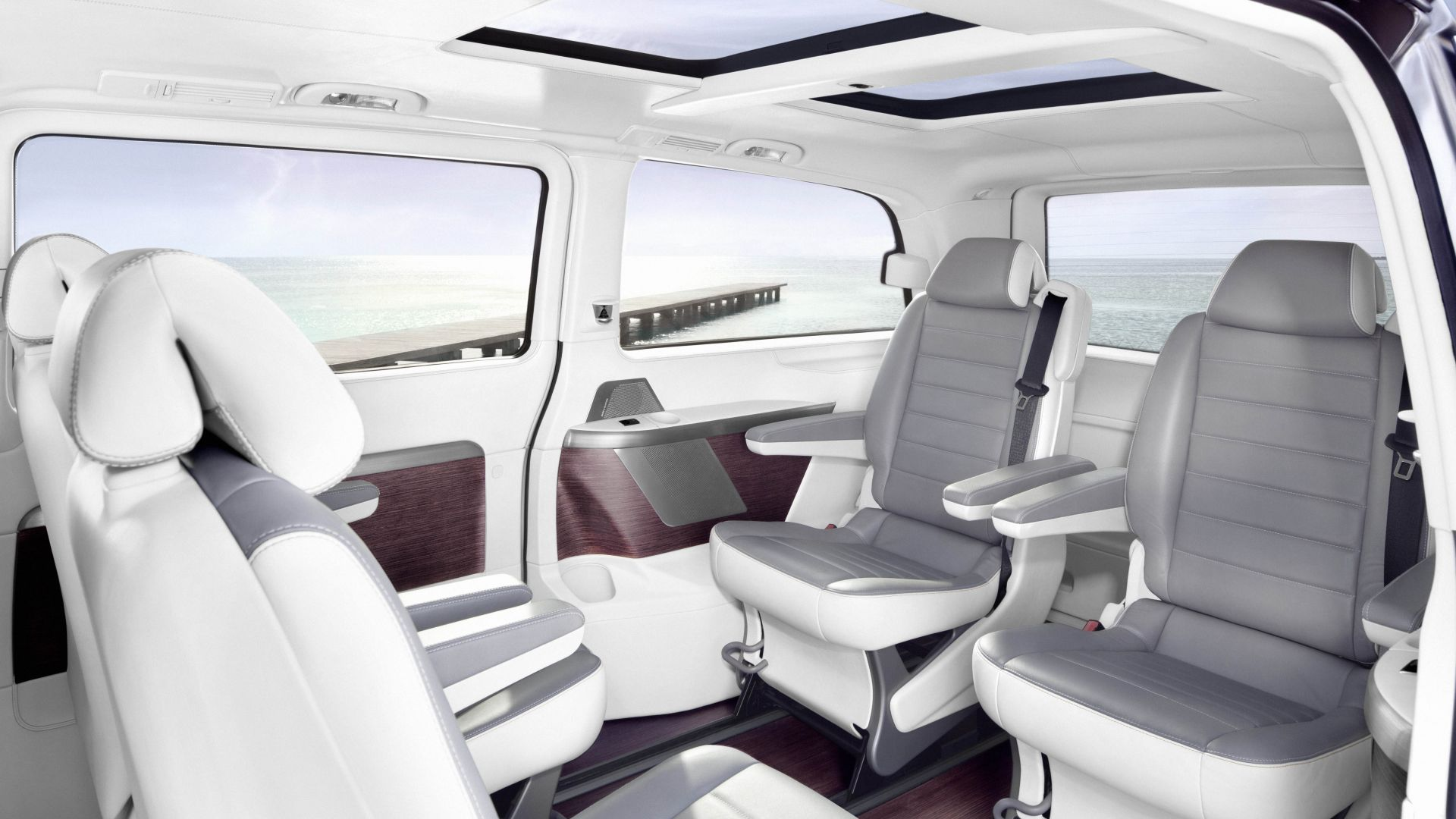 Mercedes-Benz Sprinter Vision Van, electric car, interior, 5k (horizontal)