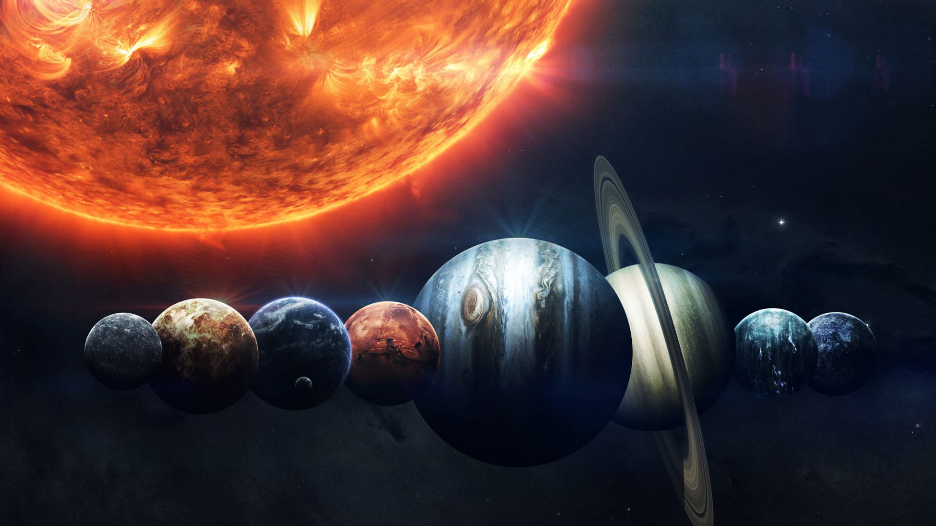 Wallpaper Sun Planet Hd Space 16032
