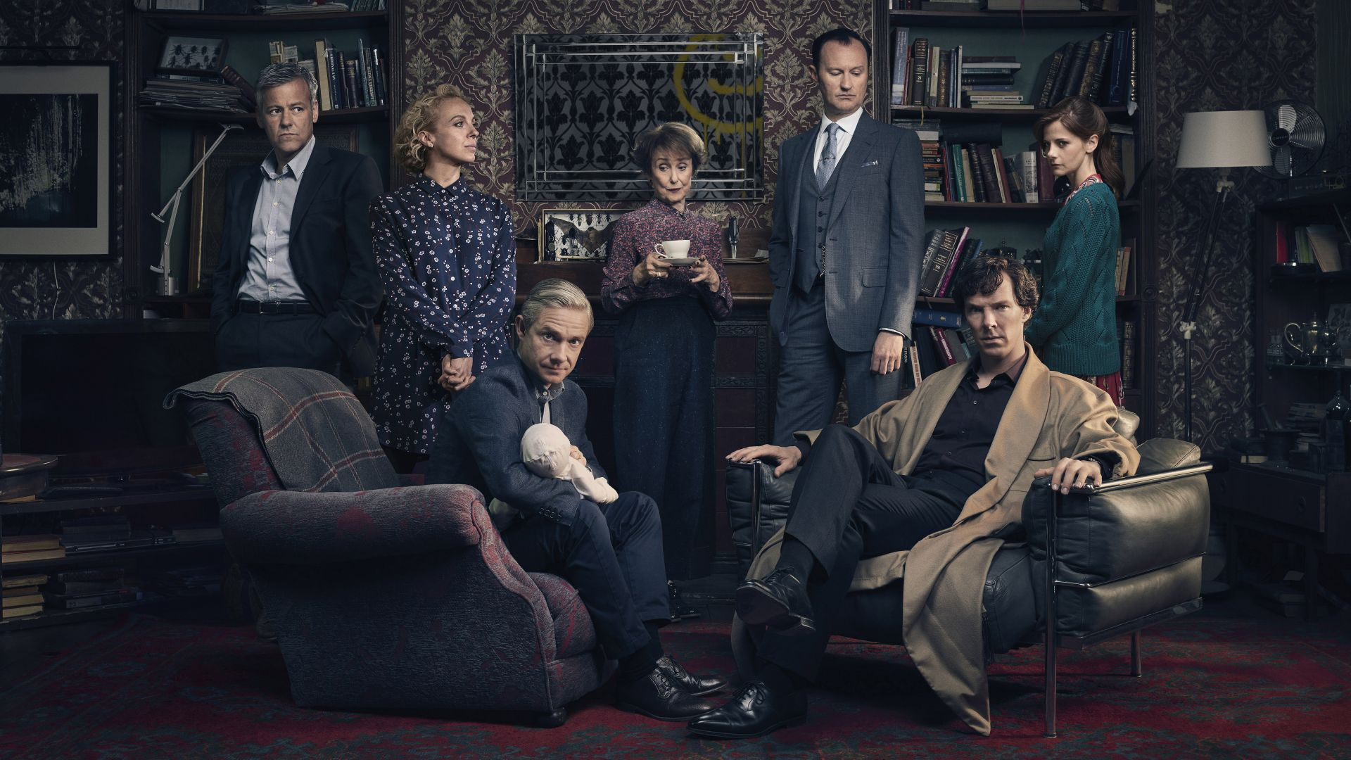 Sherlock Season 4, Benedict Cumberbatch, Martin Freeman, Louise Brealey, TV Series, 4k (horizontal)