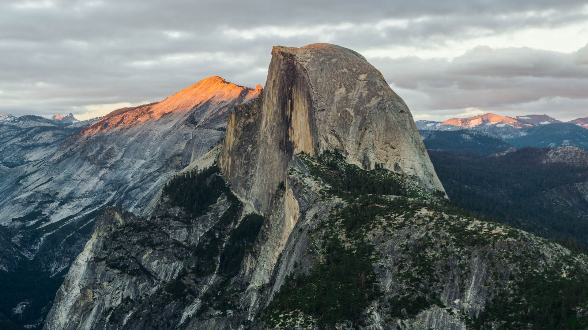 Half Dome, mountain, Yosemite, National Park, California, 8k (horizontal)