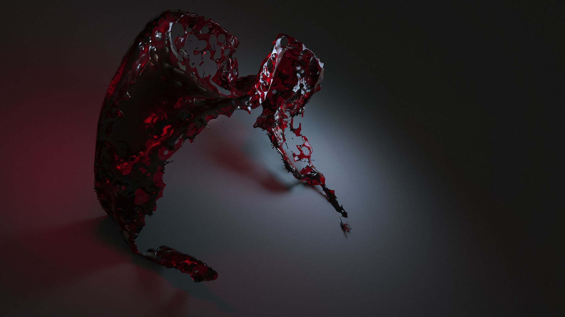 water, 3D, red, , HD (horizontal)