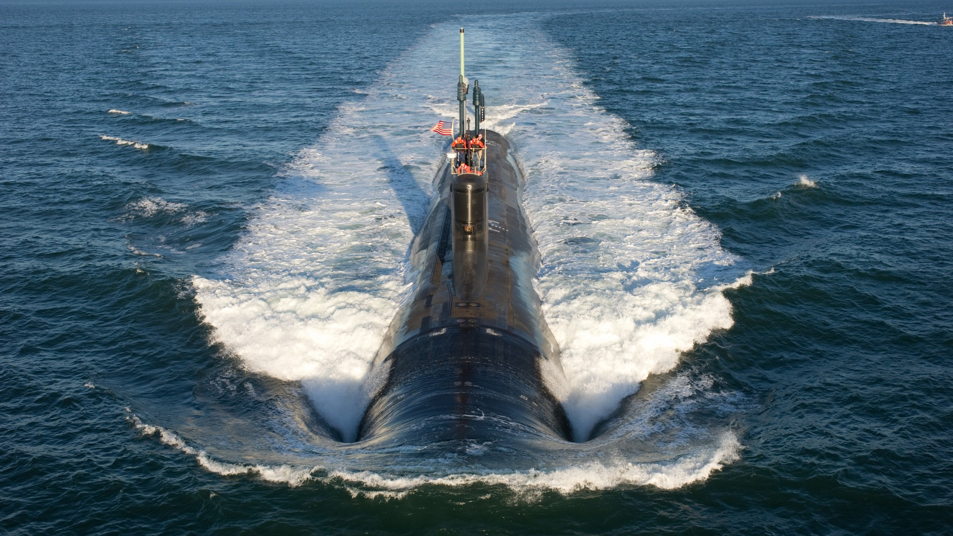 USS North Dakota, submarine, SSN-784, Virginia-class, U.S. Navy (horizontal)
