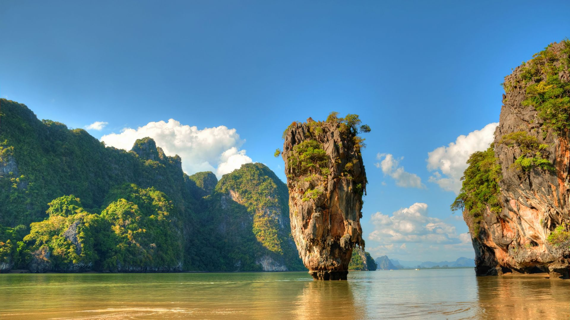 Ko Tapu, Thailand, islands, mountains, rocks, ocean, 5k (horizontal)