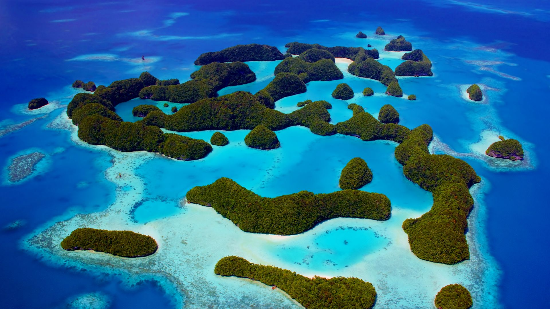 Palau, Philippines, ocean, islands, 5k (horizontal)