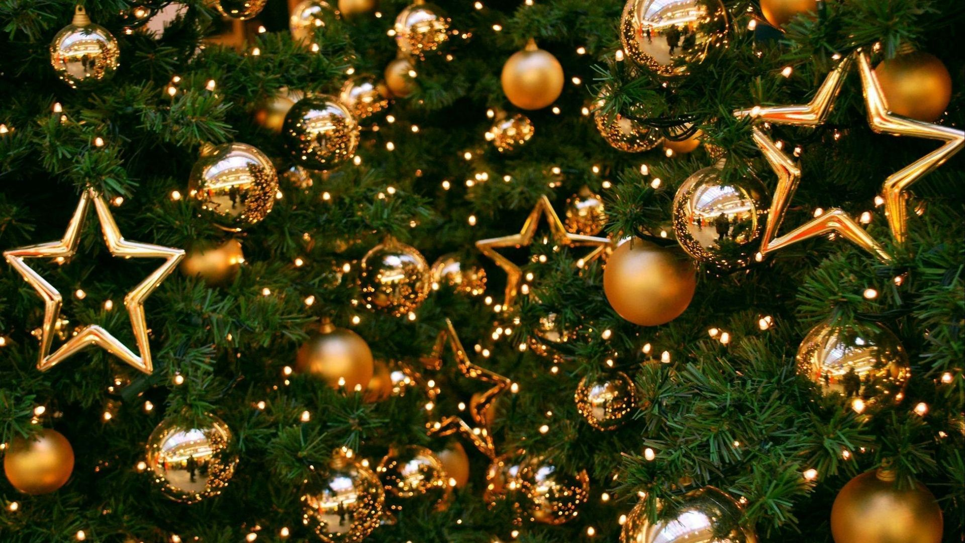 Christmas, New Year, toys, fir-tree, balls, decorations, 4k (horizontal)