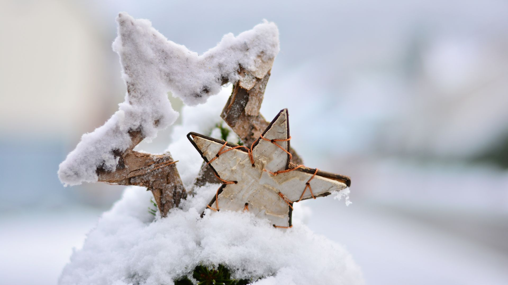 Christmas, New Year, snow, winter, star, 5k (horizontal)