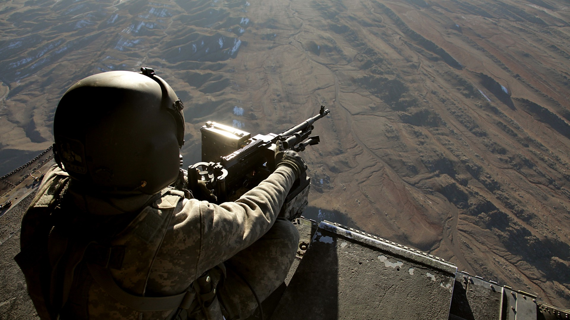 wallpaper ch-47, chinook, u.s. army, soldier, machine gun, gunner