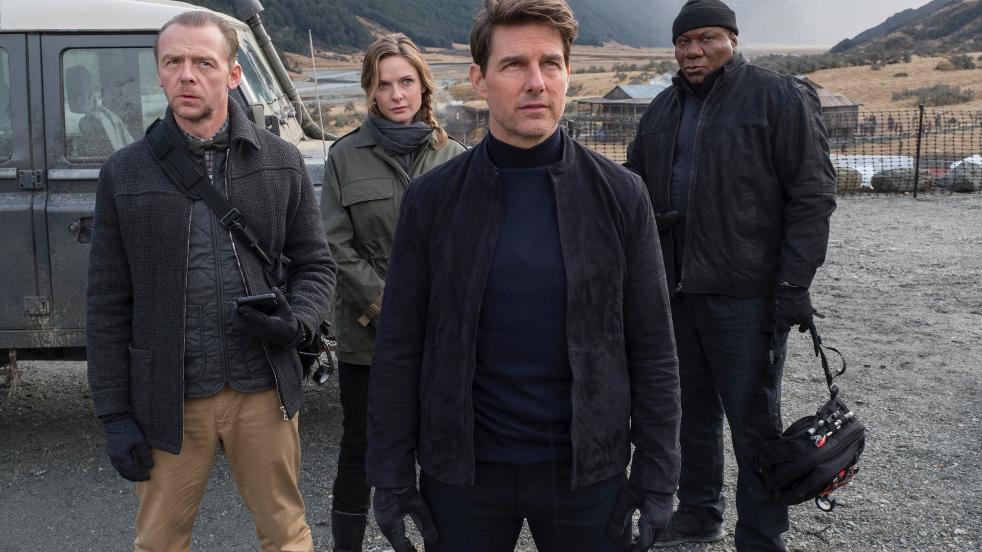 Mission: Impossible - Fallout, Tom Cruise, Ving Rhames, Rebecca Ferguson, Simon Pegg, 4k (horizontal)