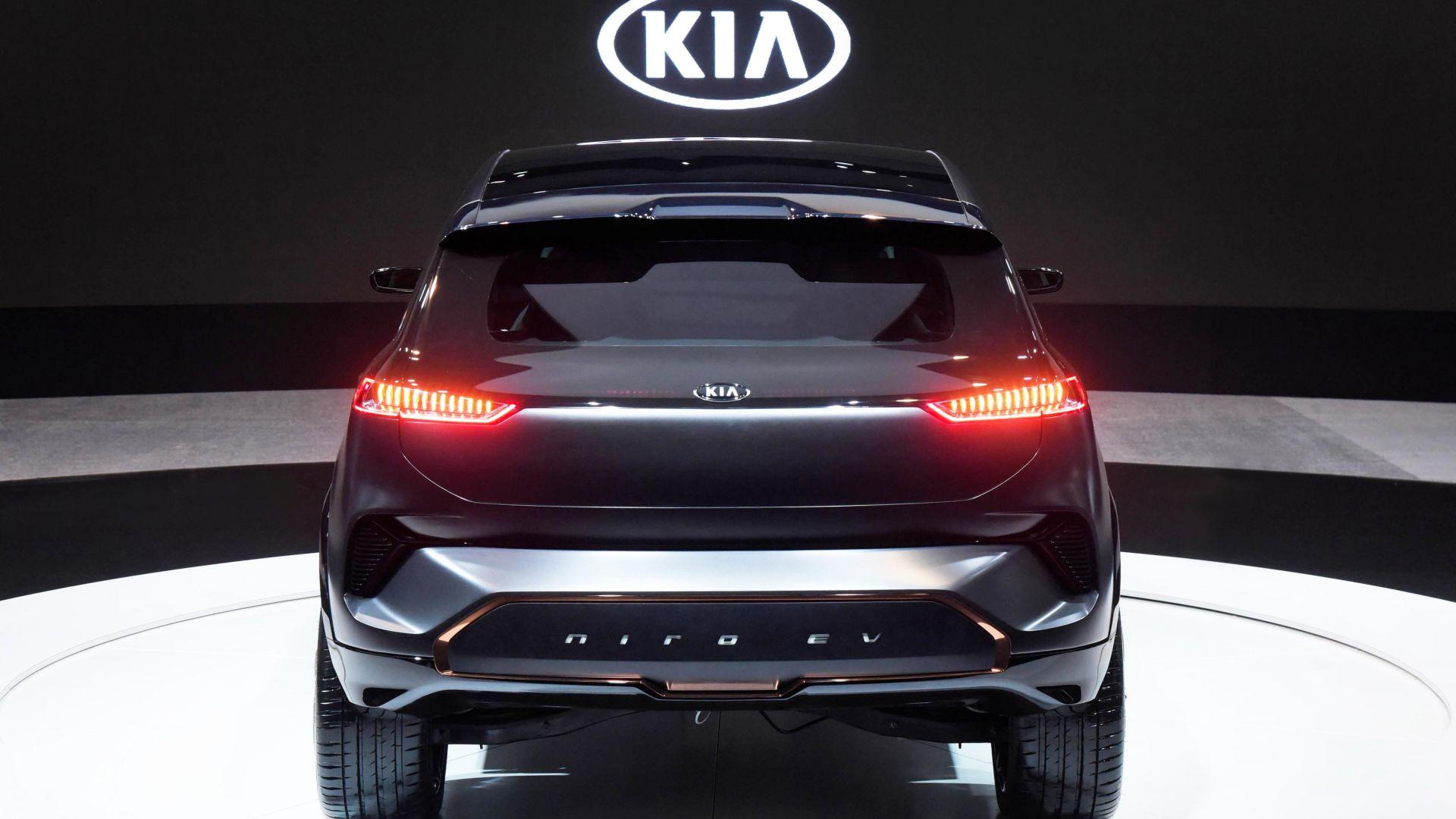 Wallpaper Kia Niro EV CES 2018 electric car 4k Cars & Bikes