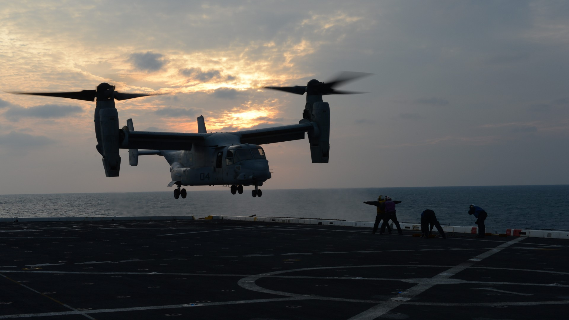V-22 Osprey, tiltrotor, multi-mission aircraft, Bell, Boeing, U.S. Air Force, aircraft carrier, U.S. Air Force (horizontal)