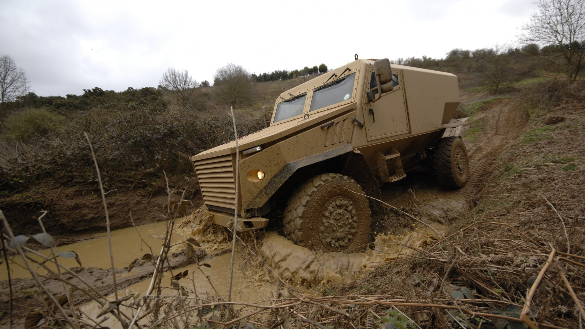 Ocelot, Foxhound, Force Protection, armoured vehicle, LPPV, MRAP, British Army (horizontal)