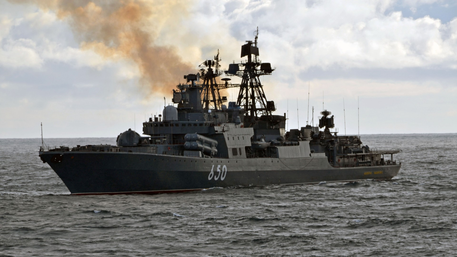 Admiral Chabanenko, destroyer, 650, Udaloy-class, Russian Navy, Russia, warship, missile, sea (horizontal)