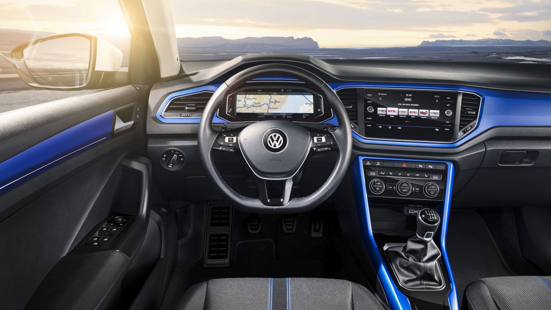 Volkswagen T-Roc, 2020 Cars, interior, 4k (horizontal)