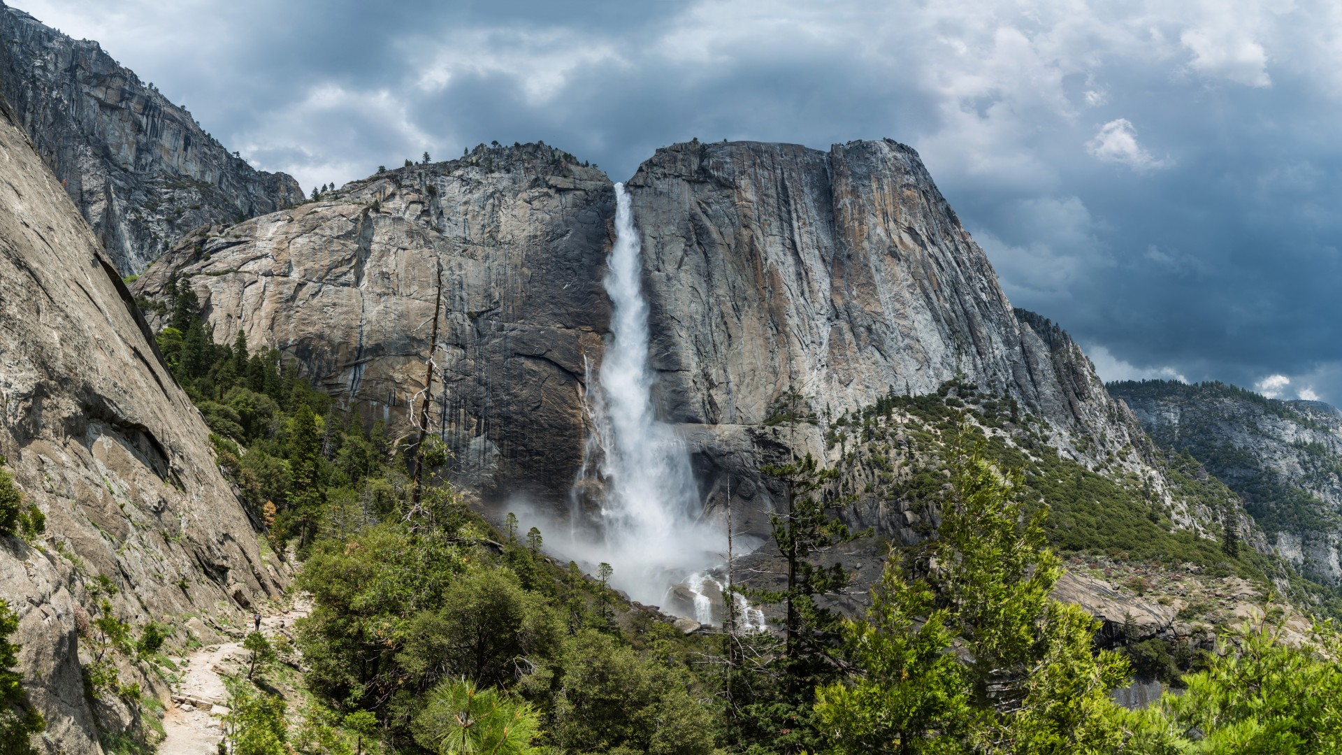 yosemite, 5k, 4k wallpaper, 8k, forest, OSX, apple, waterfall (horizontal)