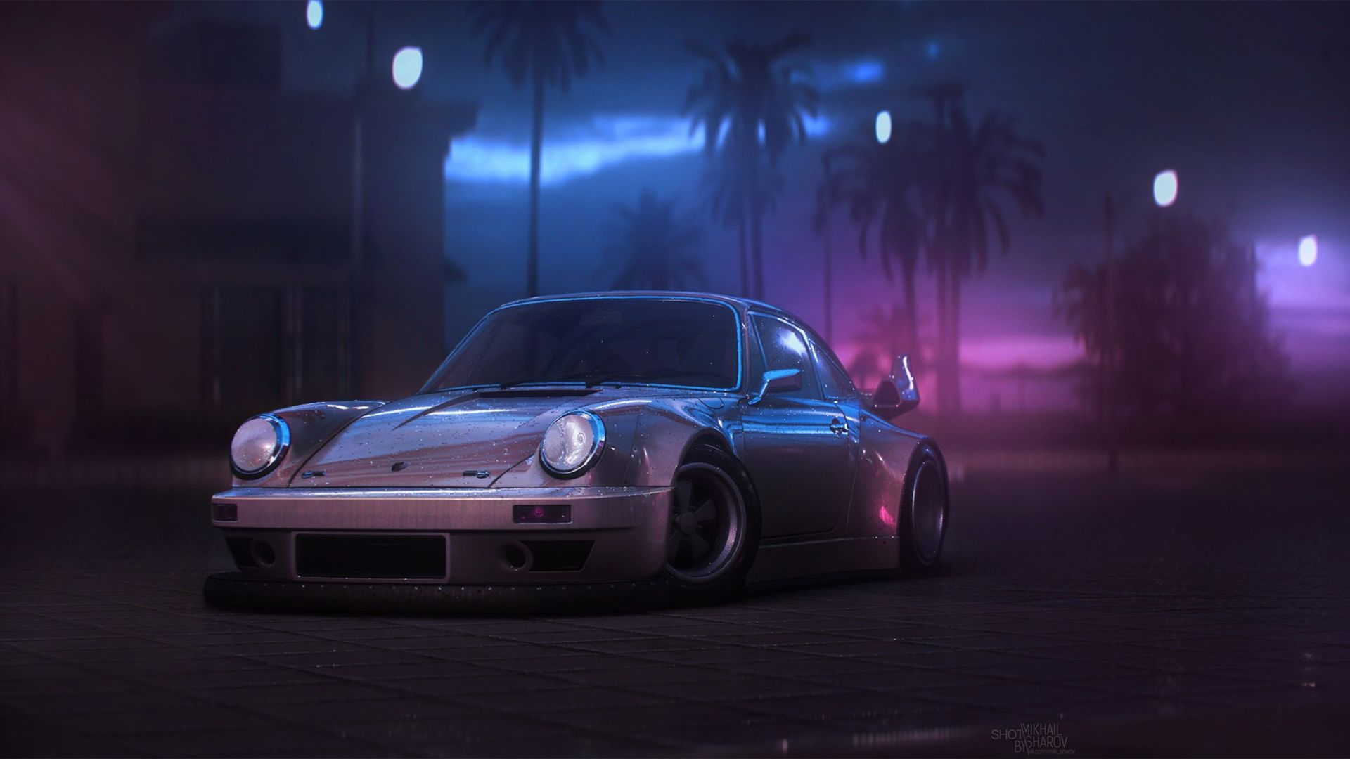 Porsche 911, Artwork, 4K (horizontal)