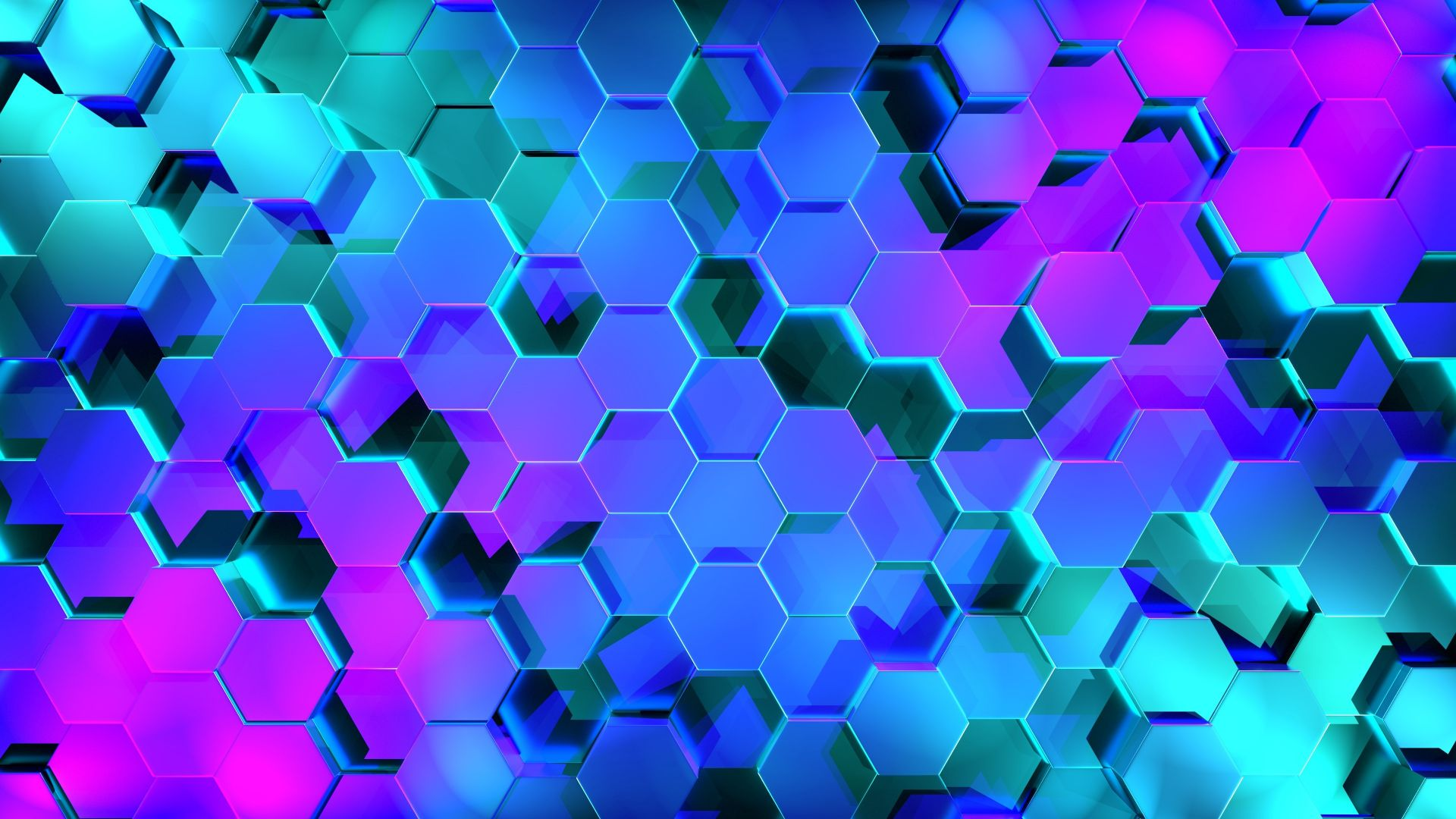 Geometry, Hexagon, Colors, 3D, 4K (horizontal)