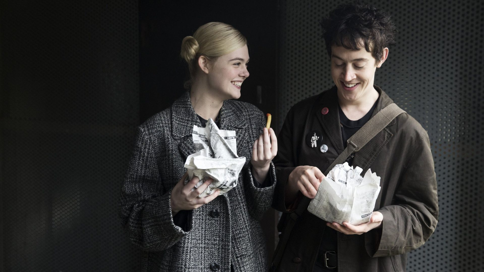 How to Talk to Girls at Parties, Elle Fanning, Alex Sharp (horizontal)