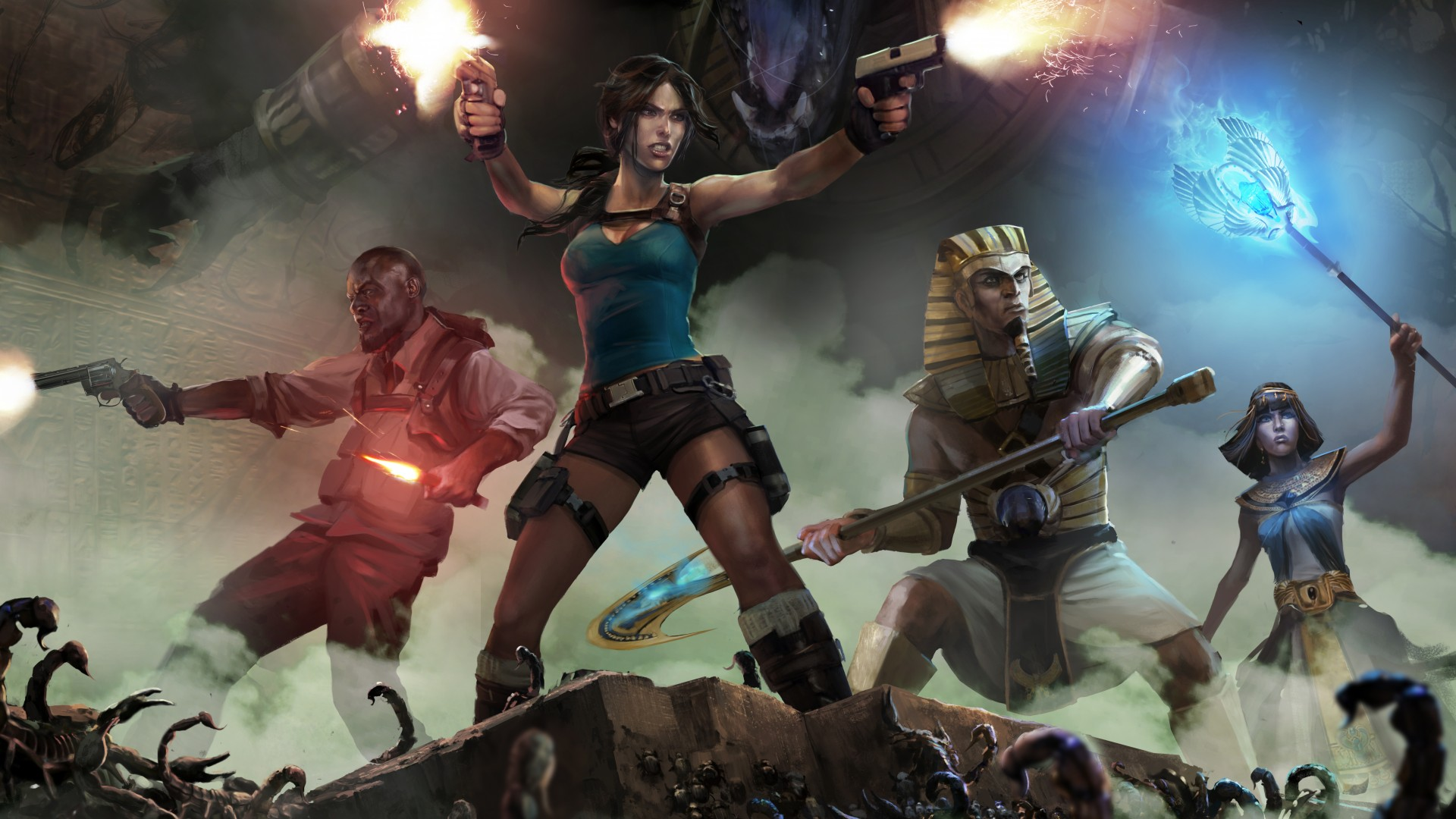 Wallpaper Lara Croft And The Temple Of Osiris Game Kartel Bell