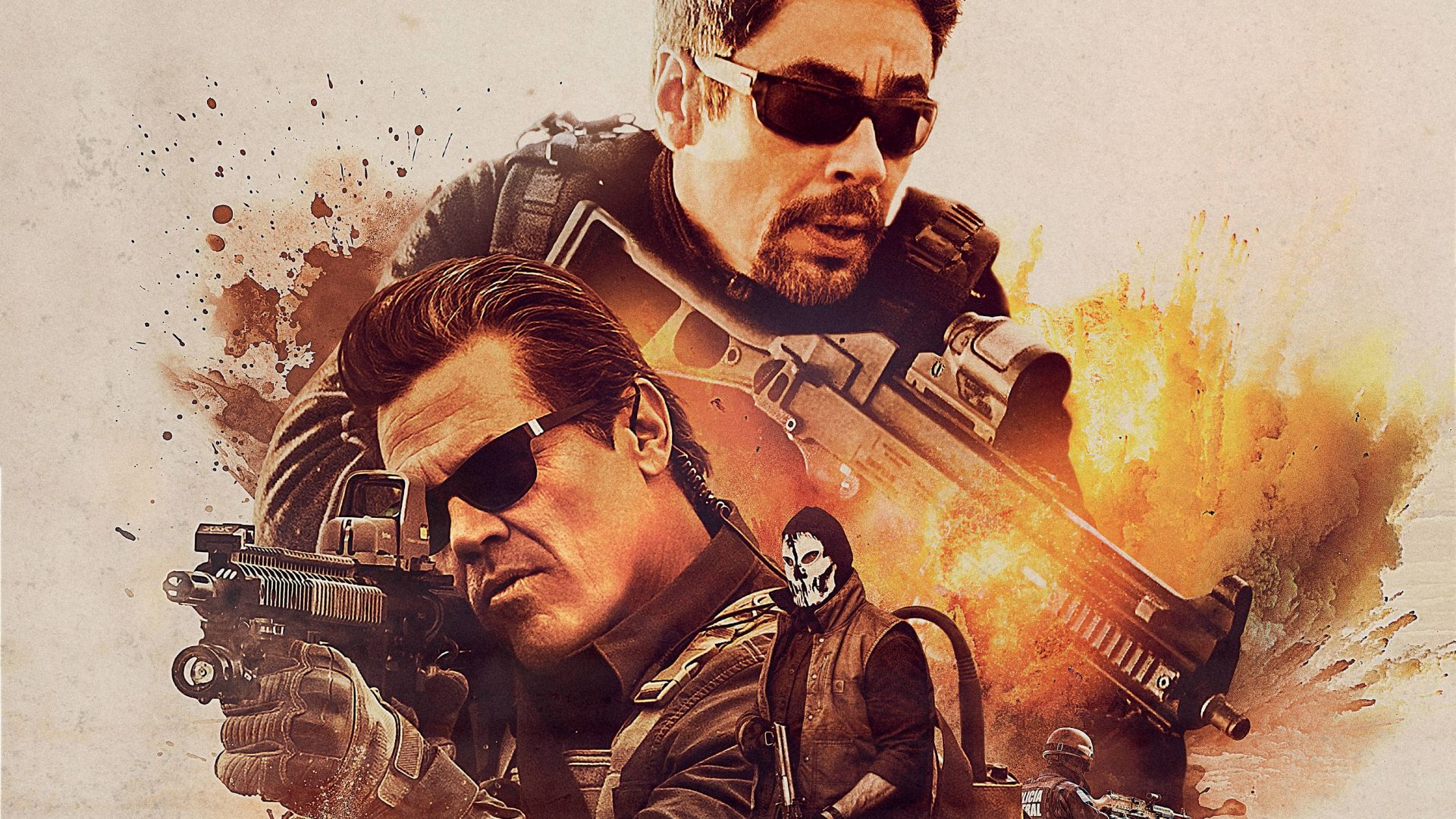 Sicario: Day Of The Soldado, Josh Brolin, Benicio Del Toro, poster, 5K (horizontal)