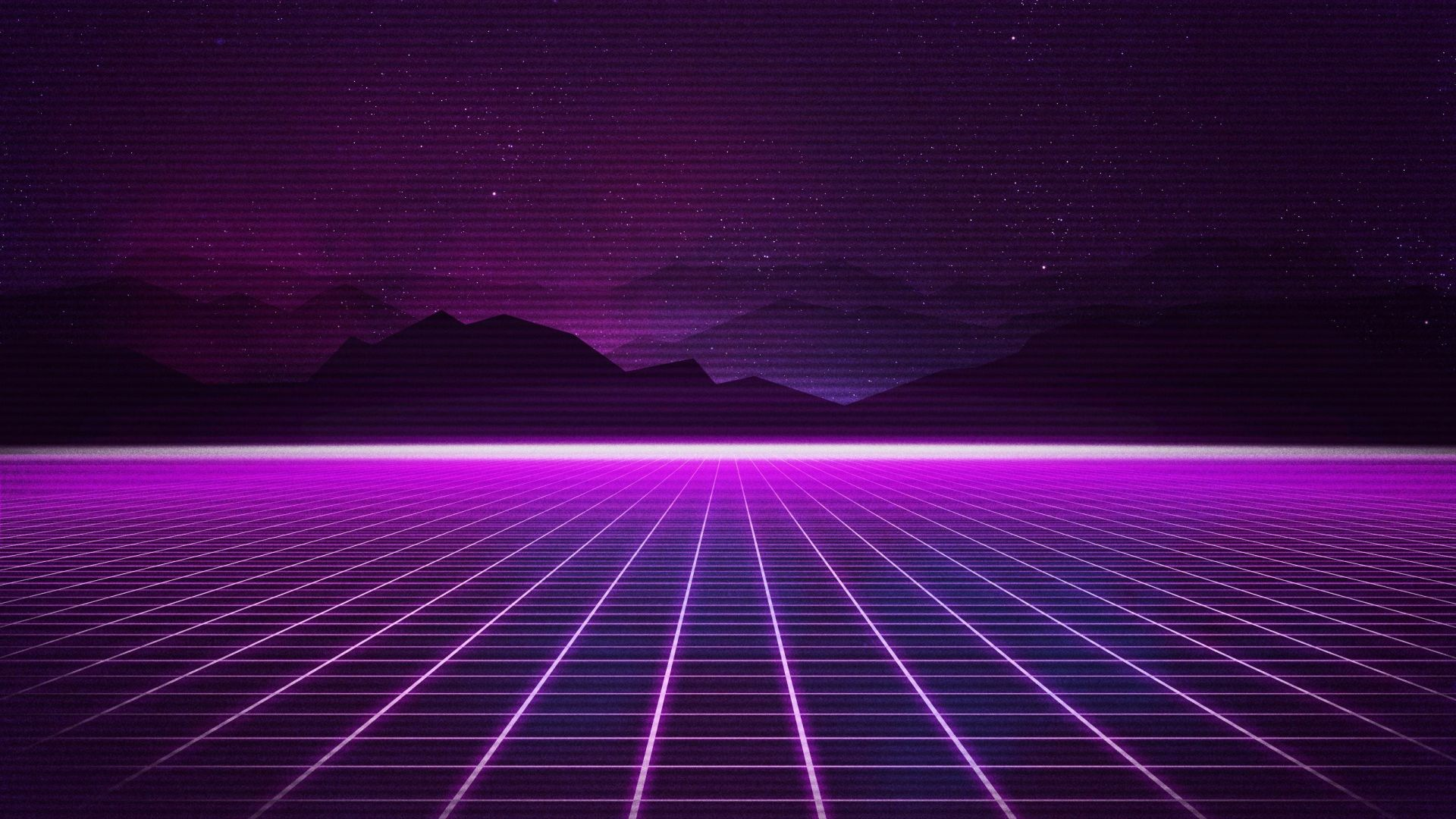 Wallpaper Retrowave, Purple, lines, 4K, Art #18921