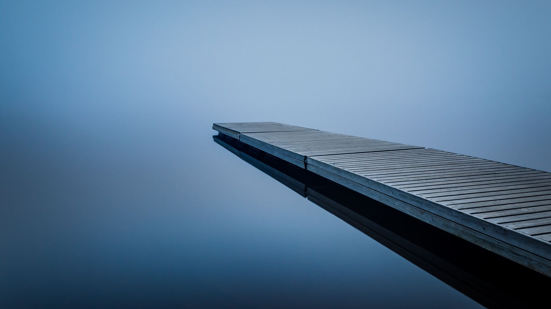 Dock, water, reflection, 4K (horizontal)