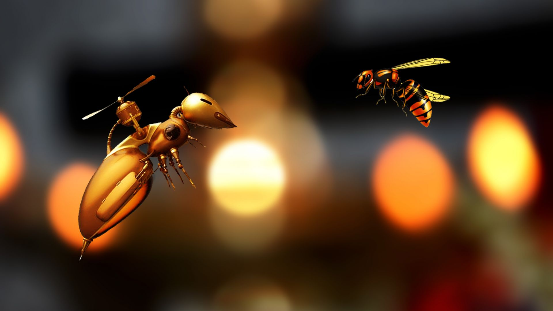 bee, robot, 5K (horizontal)