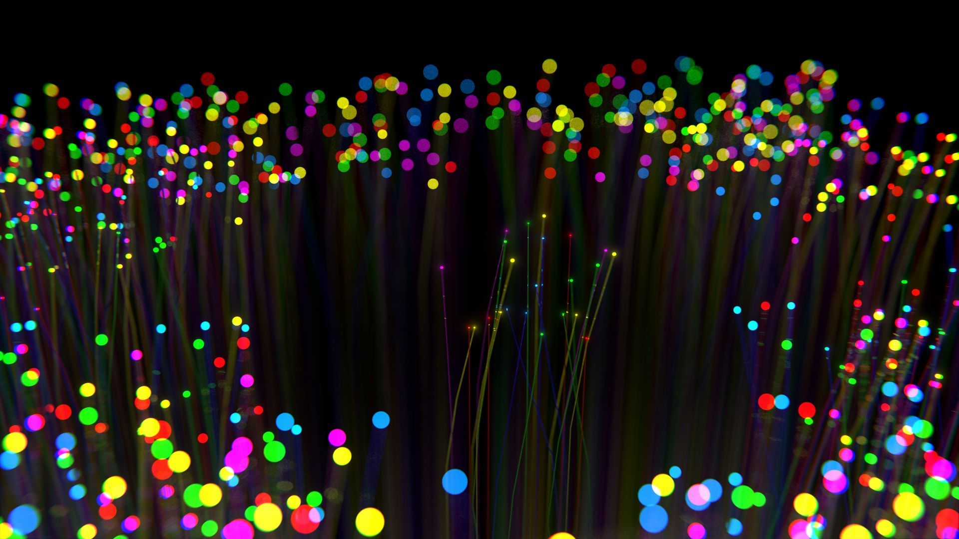 lights, colorful, dark, 4K (horizontal)