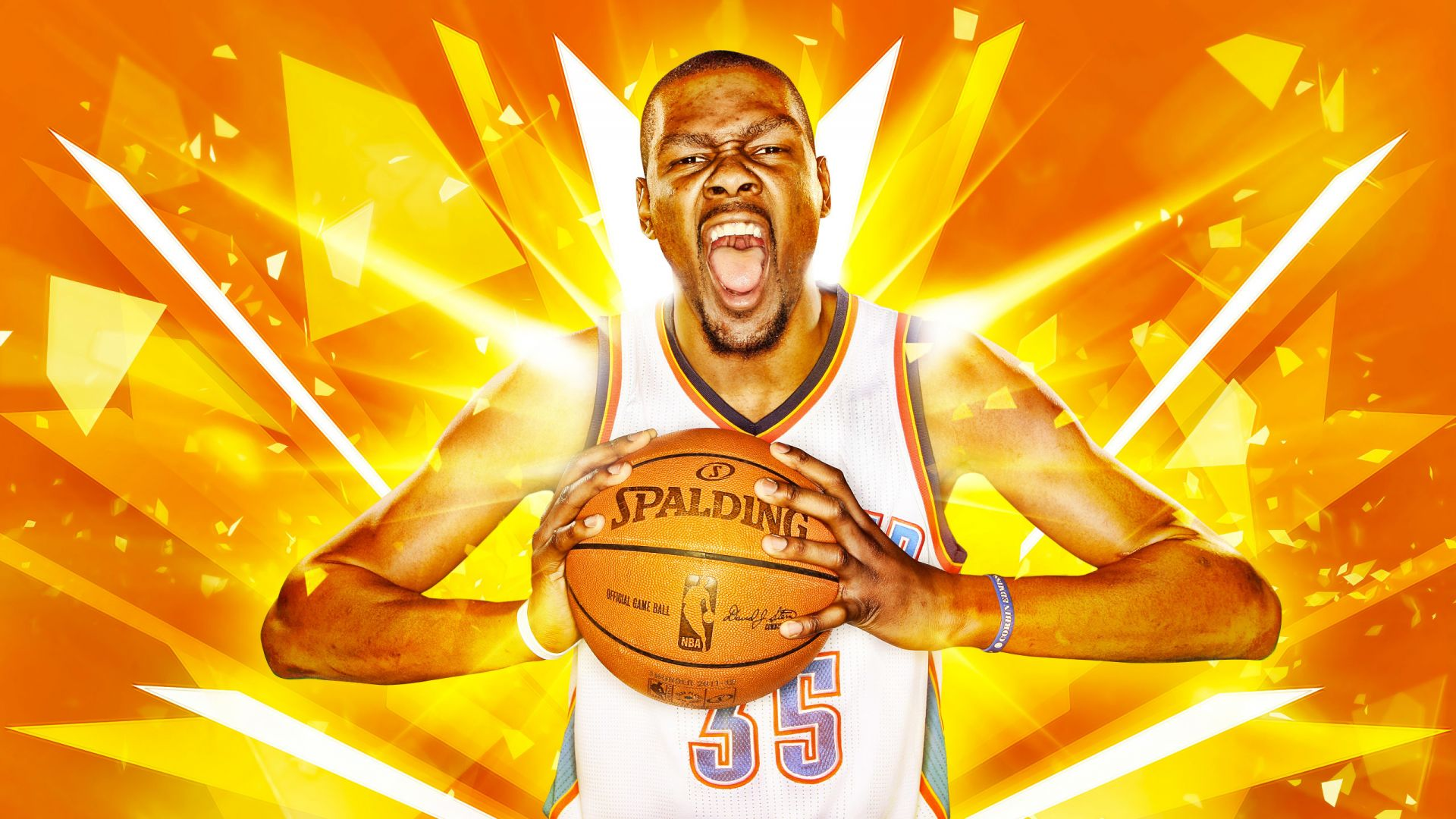 Kevin Durant, Golden State Warriors, Basketball, NBA (horizontal)