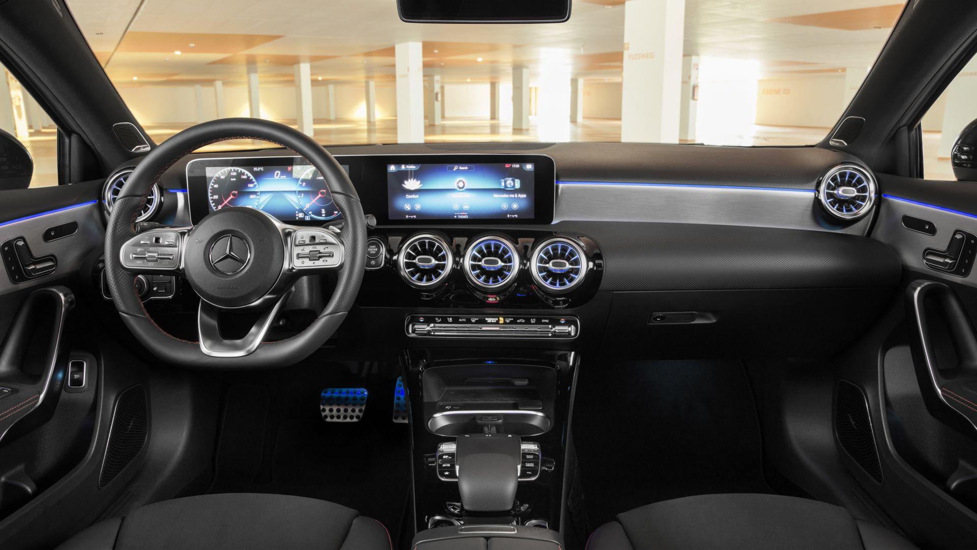 Wallpaper Mercedes-Benz A-Class V177 Sport Sedan, 2019