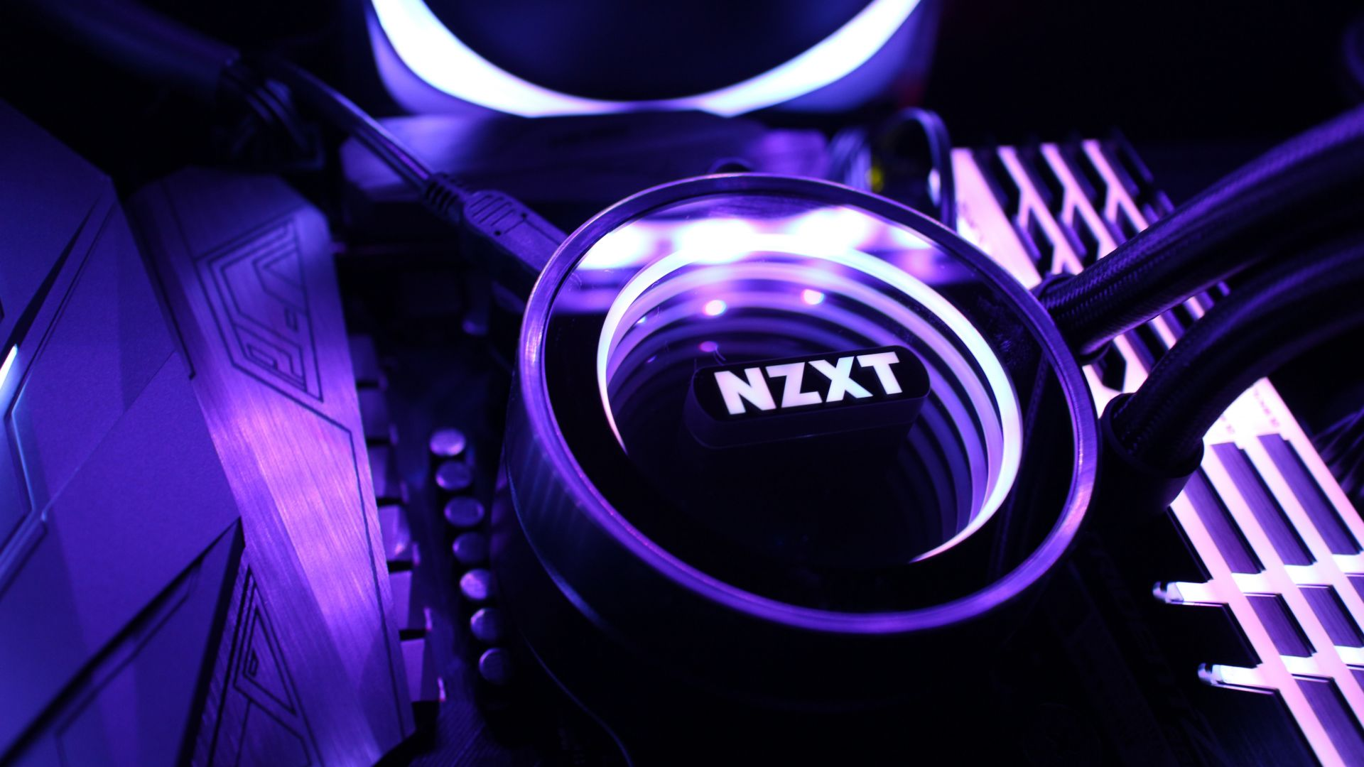 NZXT, purple, light, 5K (horizontal)
