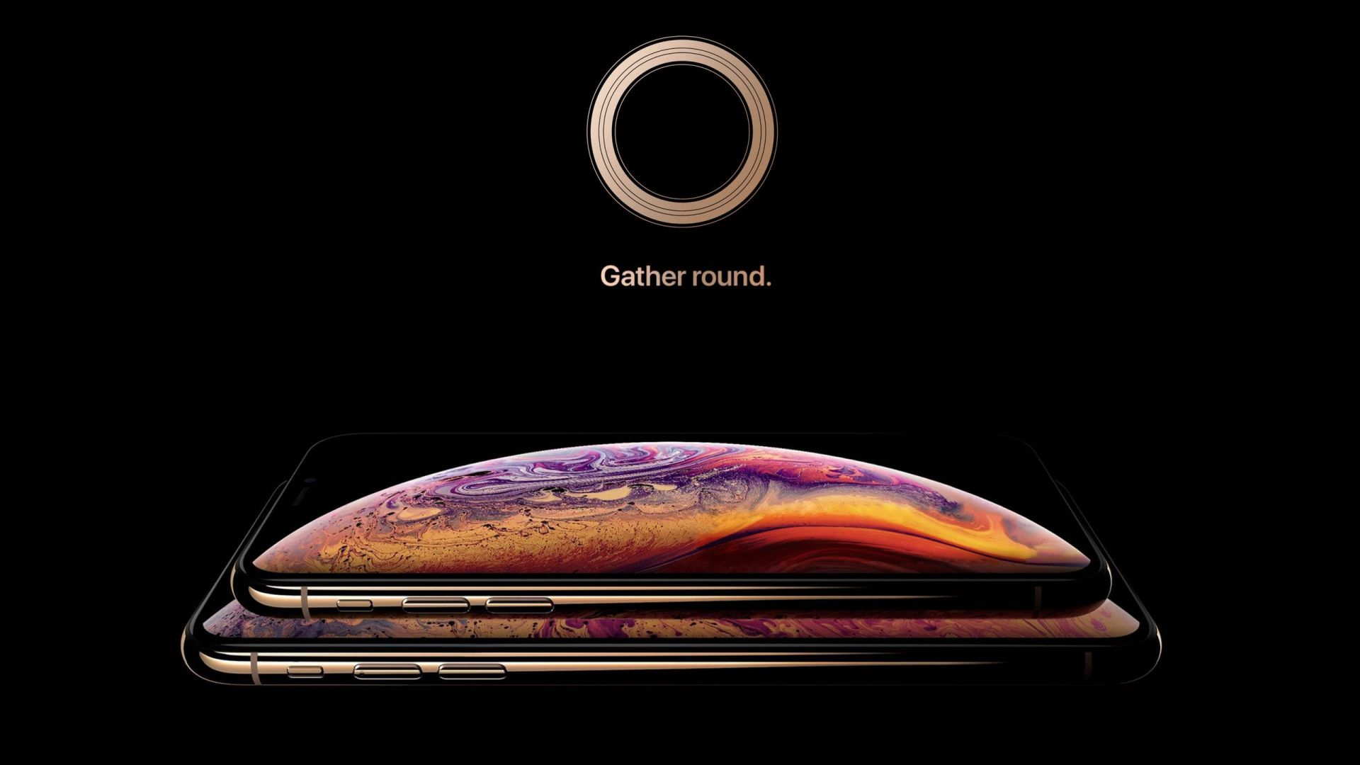 iPhone XS, gold, smartphone, HD, Apple September 2018 Event (horizontal)
