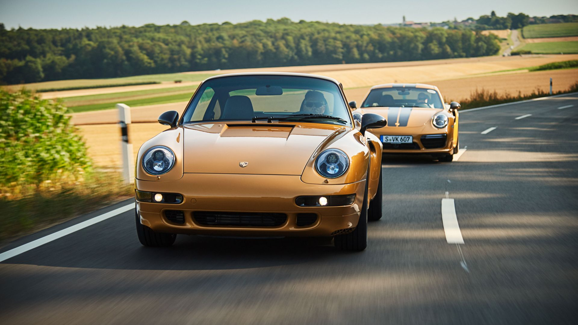 Porsche 993 Turbo S Project Gold, 2018 Cars, limited edition, 4K (horizontal)