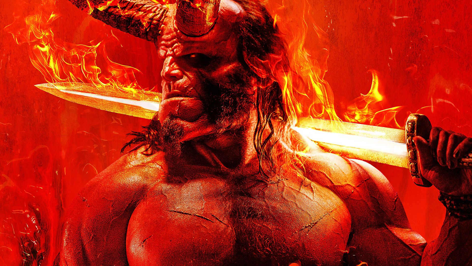 Hellboy, David Harbour, poster, 5K (horizontal)