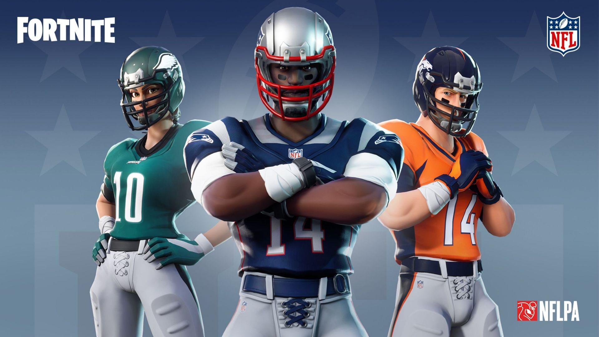 Fortnite NFL outfits, screenshot, 4K (horizontal)