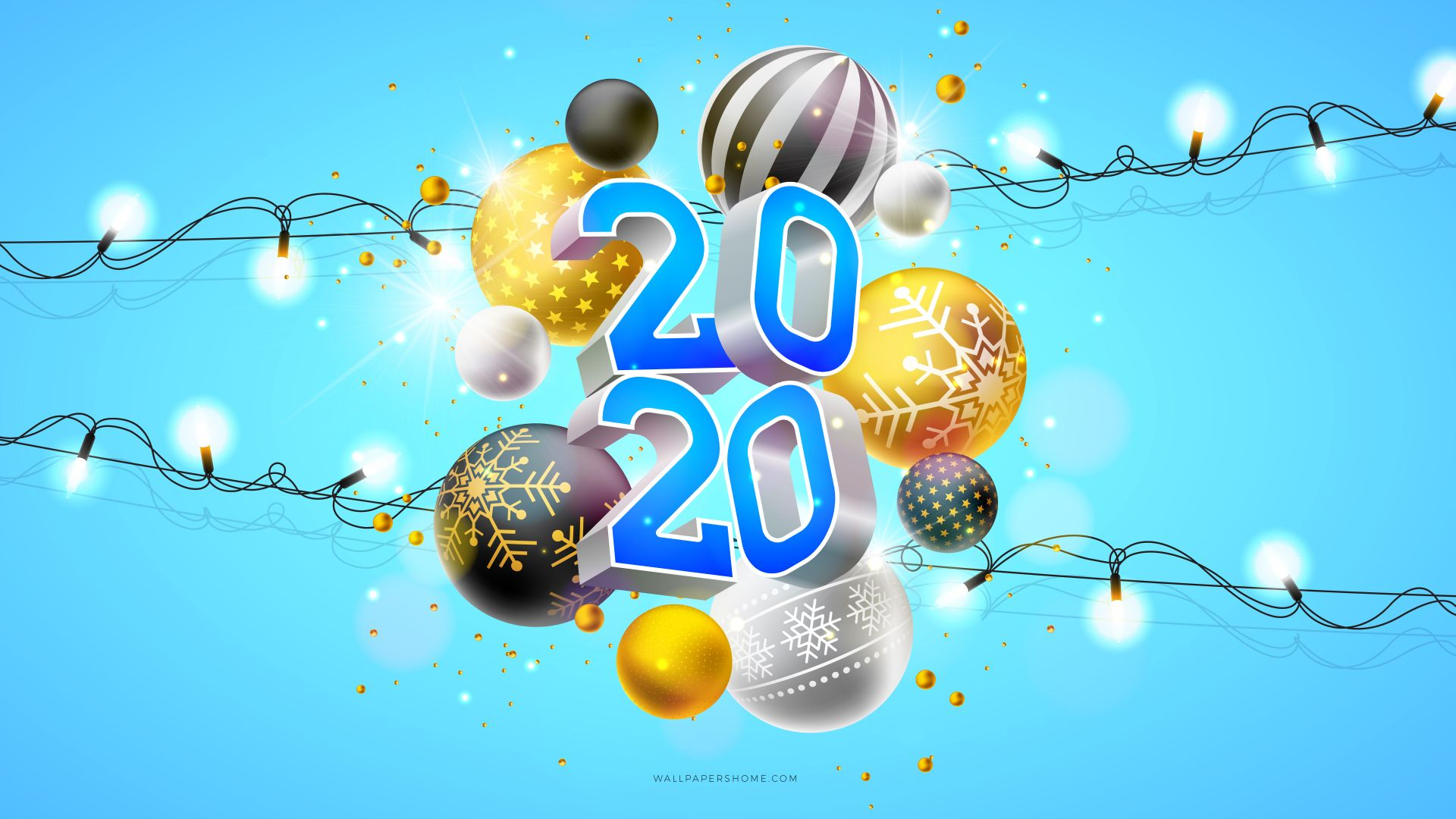 New Year 2019, Christmas, 8k, poster (horizontal)